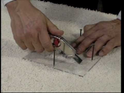 How to patch carpet hole video
