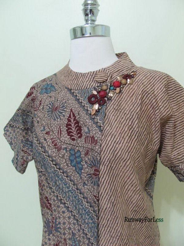 Indonesia New Danar Hadi Womens Misses Small Batik Solo Beaded Top Blouse | eBay