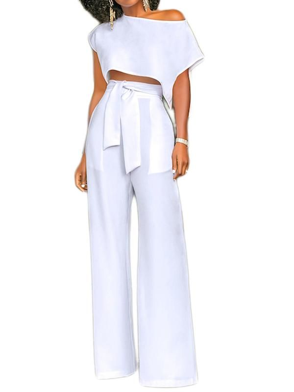 546597edd1ae Elegant Jumpsuits Romper for office lady White Pants With Belt for women  for work jumpsuit  romper  pantstightsleggings  elegant  office  work   formal ...