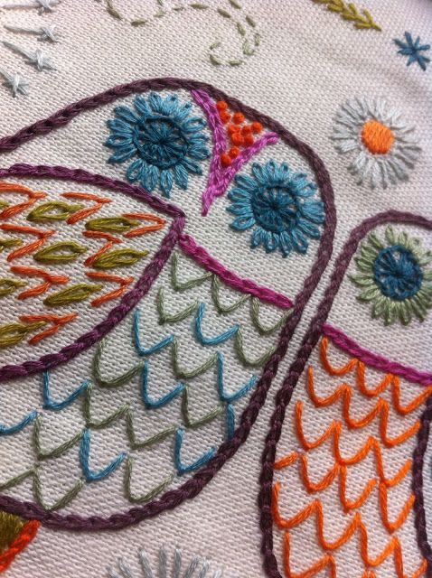 NANCY NICHOLSON: New Owl download! Awesome embroidery pattern!                                                                                                                                                                                 More