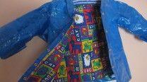 #Ikea Bag for $1 turned into kids raincoat