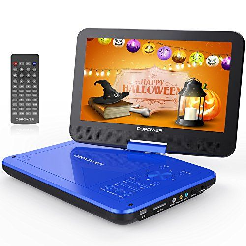 "From 51.89 Dbpower 10.5"" Portable Dvd Player 4 Hour Rechargeable Battery Swivel Screen Supports Sd Card And Usb Direct Play In Formats Avi/rmvb/mp3/jpeg (10.5 Blue)"