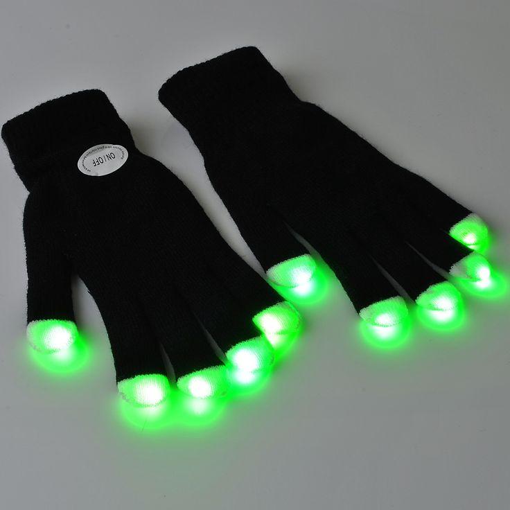 Nyeste LED-lysshow Handsker til rave parties DANCE TRANCE CLUB