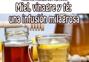 Miel, vinagre y té : Una infusión milagrosa