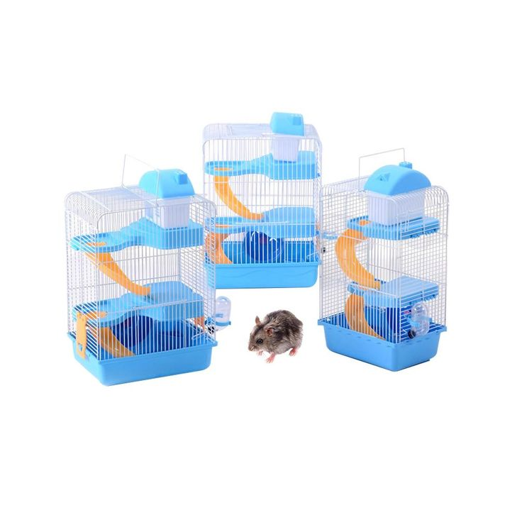 Petacc Deluxe Hamster Cage Hamster Habitat Small Pet Cage Including Mobile House, Slide Ramp