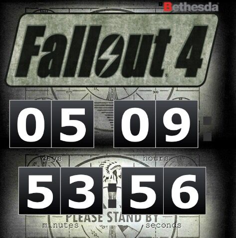 Fallout 4 Countdown At Megaton-Clock.Com #Hype4Fallout4