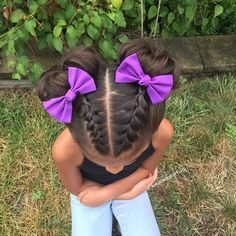 Hairstyles For Little Girls criss cross cornrows braids ponytails back natural hairstyle Hairstyle More