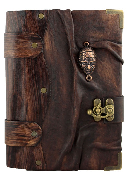 Unique handmade Medium size leather journal with a 3D Horror Faceat the front. This great piece of art is combined with a Journal which can also be used as a notebook.The paper used in the Journal is top quality Persian Paper and can be used for both sketching and writing.