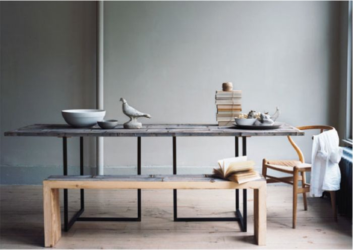 Cedar Table And Bench By Thomas Ryan Beckman For Canvas