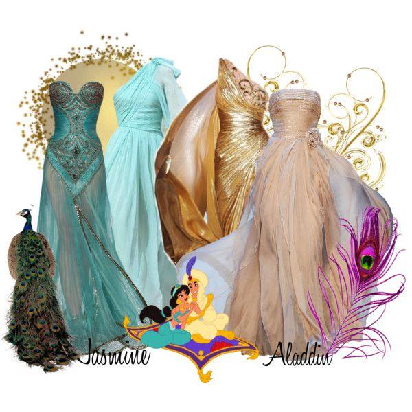 """Aladdin and Jasmine"" by jess-d90 on Polyvore"