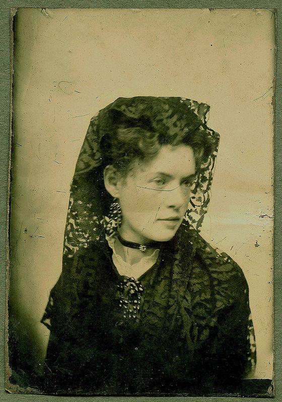 Woman with Spanish Veil