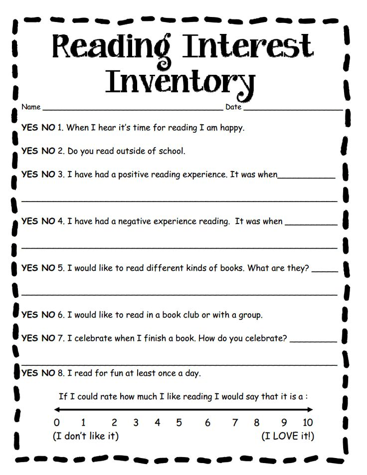 Best  Reading Survey Ideas On   Reading Inventory