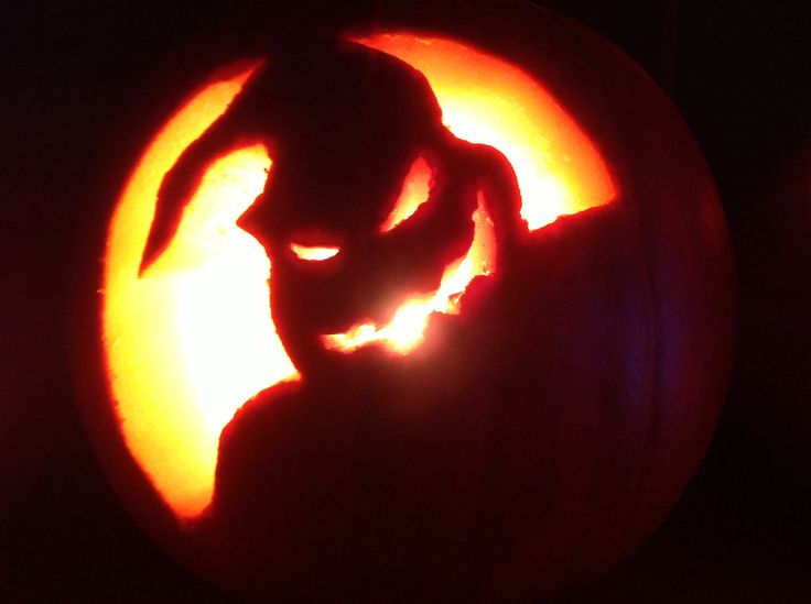 Oogie boogie pumpkin :)