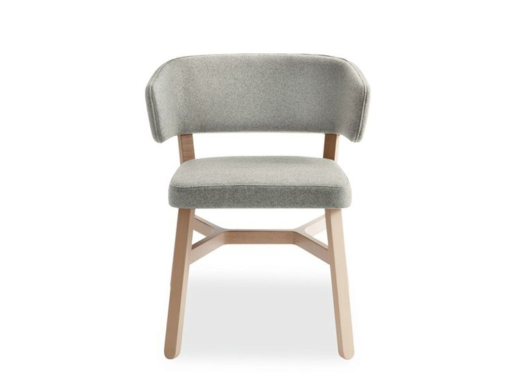 Upholstered fabric chair with armrests Croissant Collection by BILLIANI   design Emilio Nanni