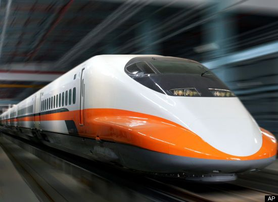 Traveled by Taiwanese High Speed Rail (Equivalent to Japan's bullet train)