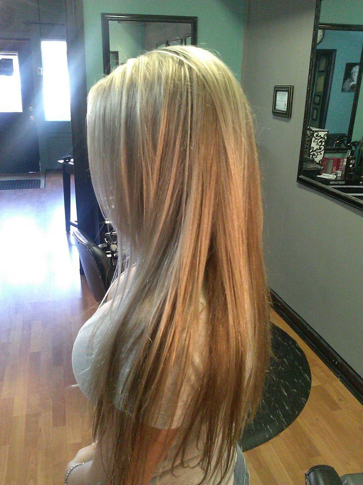 long 3 shades of blonde hair long with layers and long ...