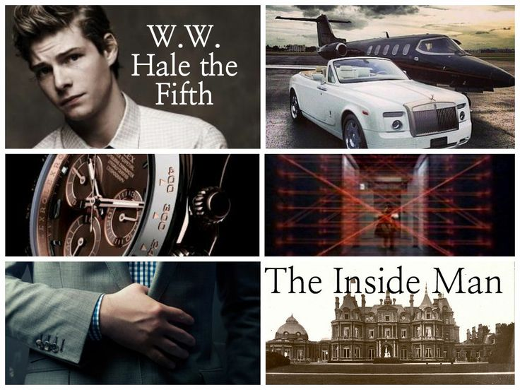 Heist Society by Ally Carter- the crew. W.W. Hale the fifth: the inside man