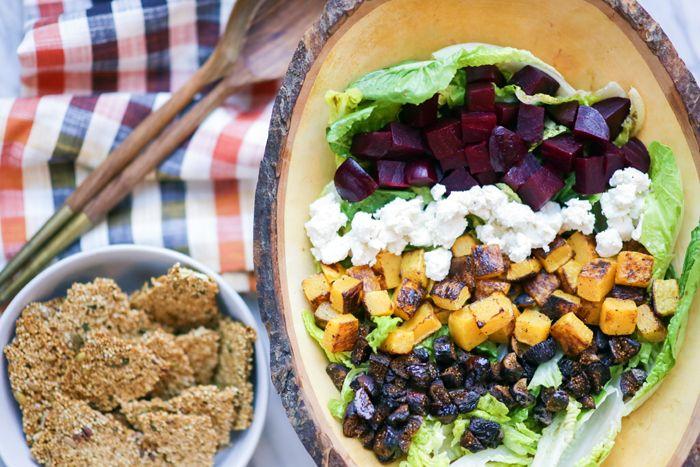 Pamela Salzman's Fall Harvest Salad With Quinoa Brittle   Molly Sims