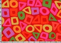 Brandon Mably Fabric, Puzzle Red (per 1/4 metre)