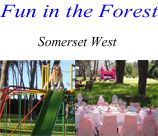 FUN IN THE FOREST or FAIRIES IN THE FOREST parties are really special. Set in a three acre forest of Cluster Pines, we can entertain your child and his or her friends with a tailor-made party, thus suiting your child's personality and individual needs.
