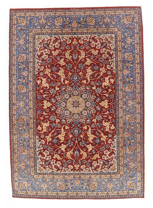 Van Ham Kunstauktionen Isfahan On Silk Mid 20th Century 215 X 151cm