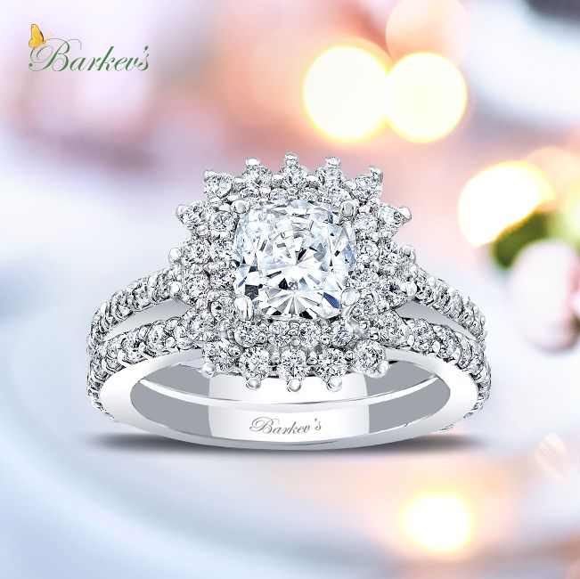 princess engagement whitegold bridal tale white carat premier diamond gold fairy sidestones ring set