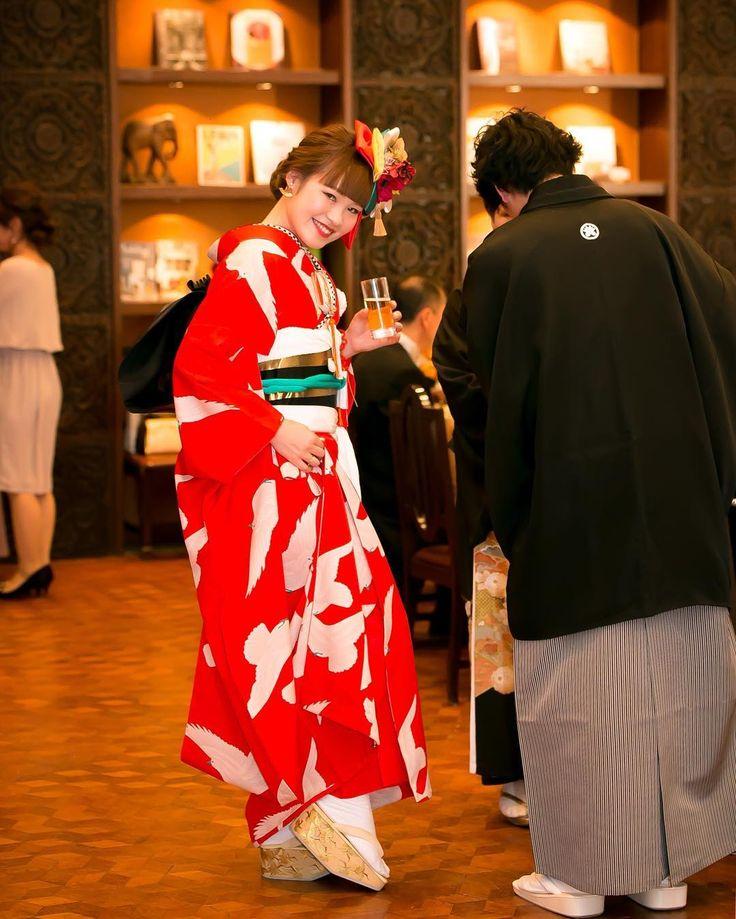 お引きずり姿にきゅん♡日本の伝統花嫁衣装「引き振袖」が美しい!   marry[マリー]