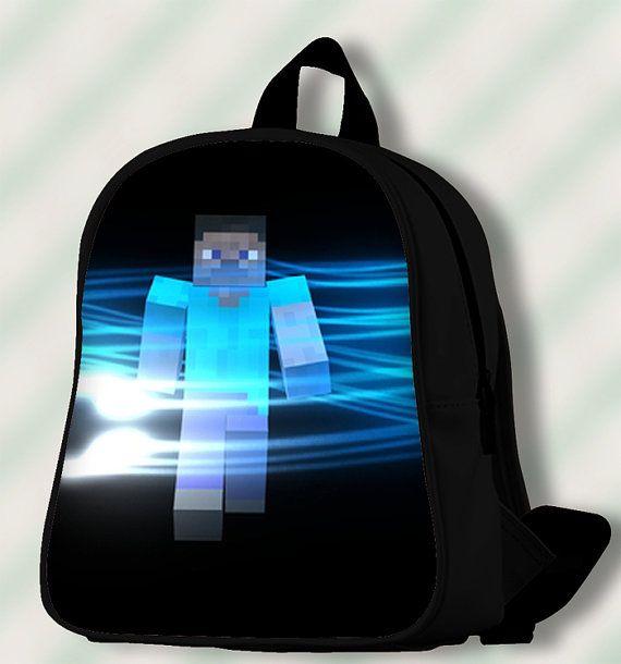 Minecraft Blue Light  Custom by SmileSchoolBags on Etsy