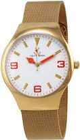 ToyWatch Golden Mesh Bracelet Watch, Orange