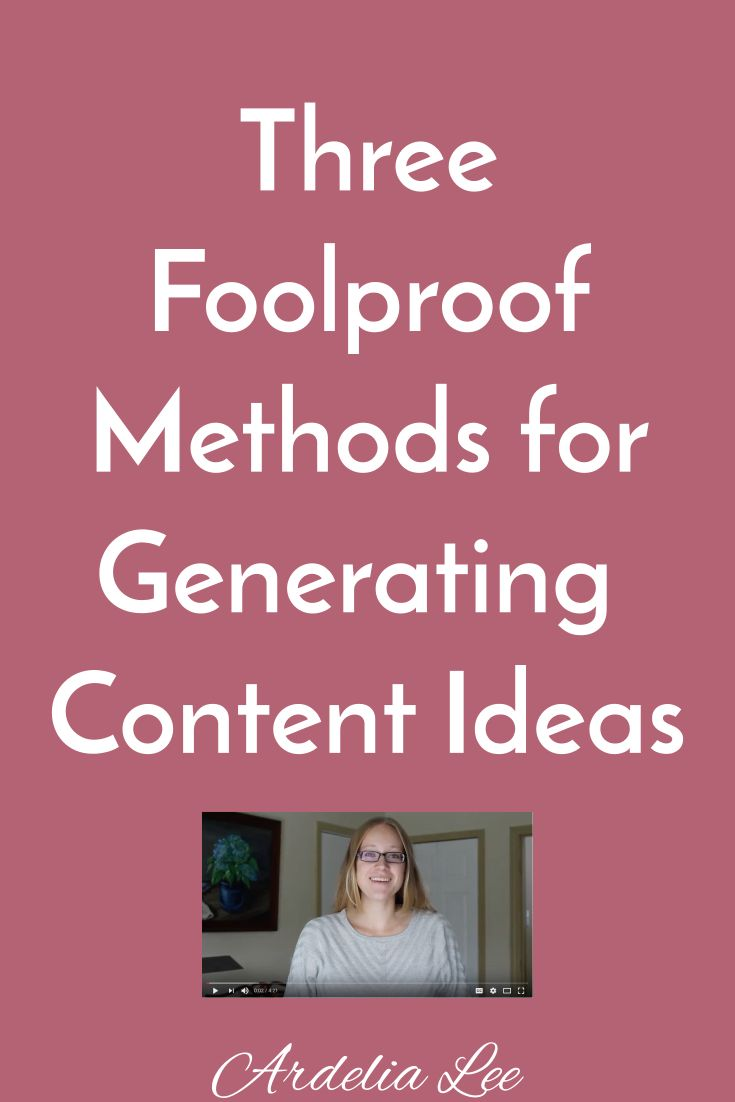 "Generating content ideas can be tough, especially for solopreneurs and small business owners. The good news is that there are three foolproof methods you can use to get the ideas flowing faster than Niagara Falls, no fancy equipment required. Click here to learn what you should do to become an idea-generating machine. (Note: We're talking real ideas, not ""X Tools I Use to Run My Business"" Ideas.)"