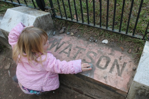 """The Legend of Gracie Watson Little Gracie Watson is one of Bonaventure Cemetery's most famous residents. According to a plaque at Gracie's grave, the """"beautiful and charming little girl"""" died of pneumonia at the age of six, and legend has it Gracie now haunts the striking statue carved in her honor. Many visitors leave coins and toys at Gracie's grave, and some say"""