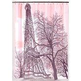 Found it at Wayfair - Tour Eiffel Polyester Shower Curtain 22.00