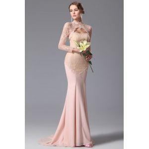 Нежное платье 2015 с кружевным болеро