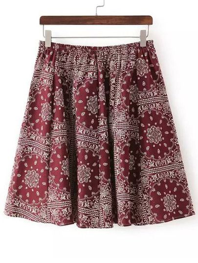Shop Burgundy Elastic Waist Floral Skirt online. SheIn offers Burgundy Elastic Waist Floral Skirt & more to fit your fashionable needs.