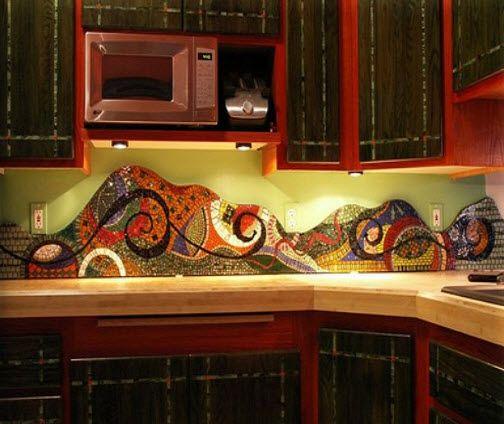 Colorful backsplash | 37 Colorful Kitchen Backsplash Pictures Colorful Kitchen Backsplash ...