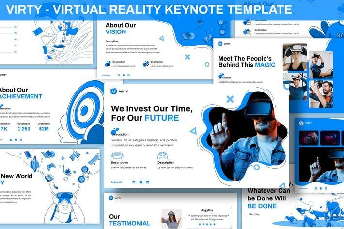 Virty Virtual Reality Keynote Template Keynote Template Free Keynote Template Keynote