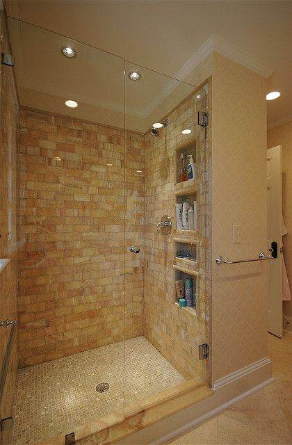 Custom Tiled Shower by hawthornincatlanta, via Flickr