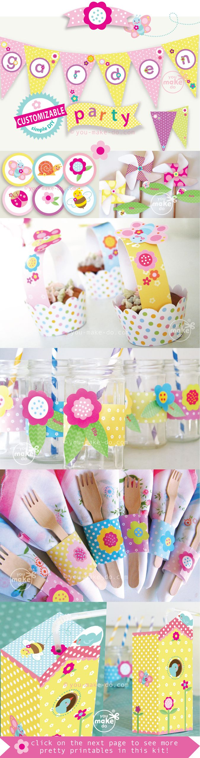 Make Garden Party Printables For A Birthday Or Baby Shower