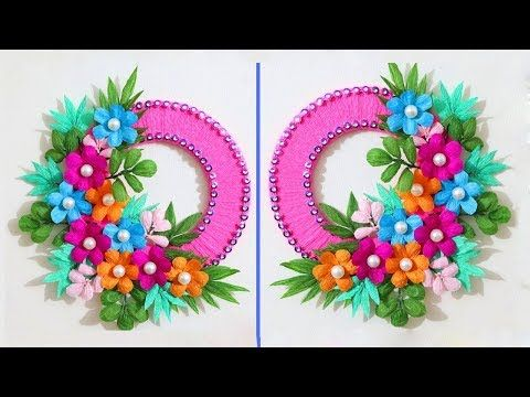 Paper Flower Wall Decor2 Beautiful Wall Crafts Paper Flower Wall