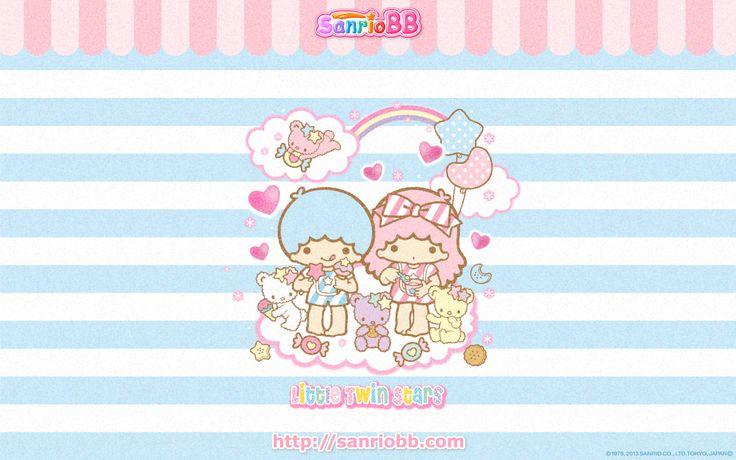 Little Twin Stars Wallpaper 2013 七月桌布 日本 SanrioBB Present