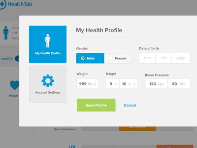 Health Profile modal