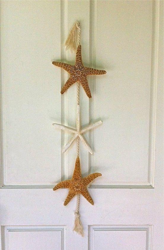 beach decor starfish door hanging beach by seashellcollection - Beach Decor Ideas