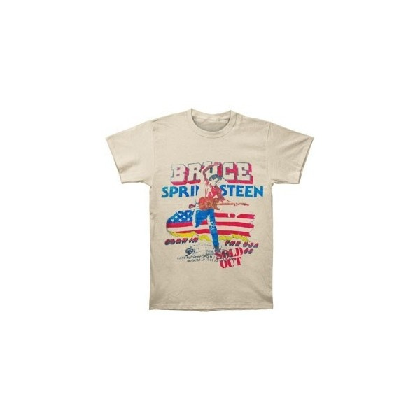 BRUCE SPRINGSTEEN Tour T-shirt ($30) ❤ liked on Polyvore