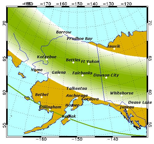 Aurora/Northern Lights forecast site.  Usually have to get out of Anchorage to see them ( or go above the city lights of Anchorage like me & Ang use to do...Flat top mountain)
