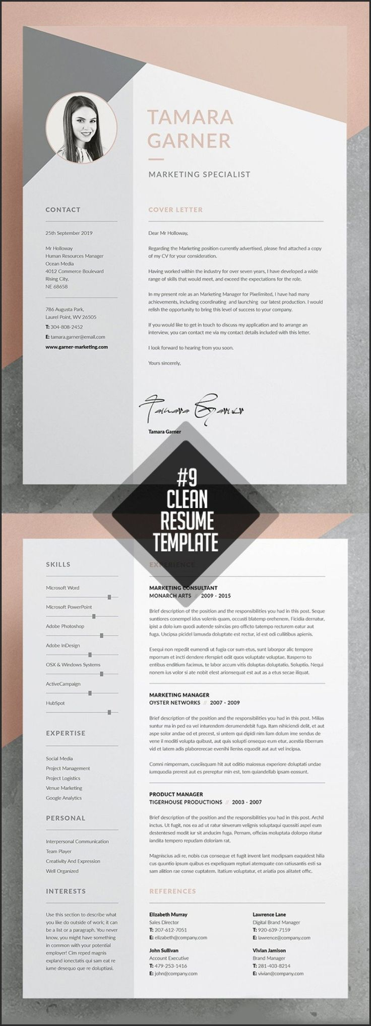 Adobe Indesign Resume Template Best Of Adobe Indesign