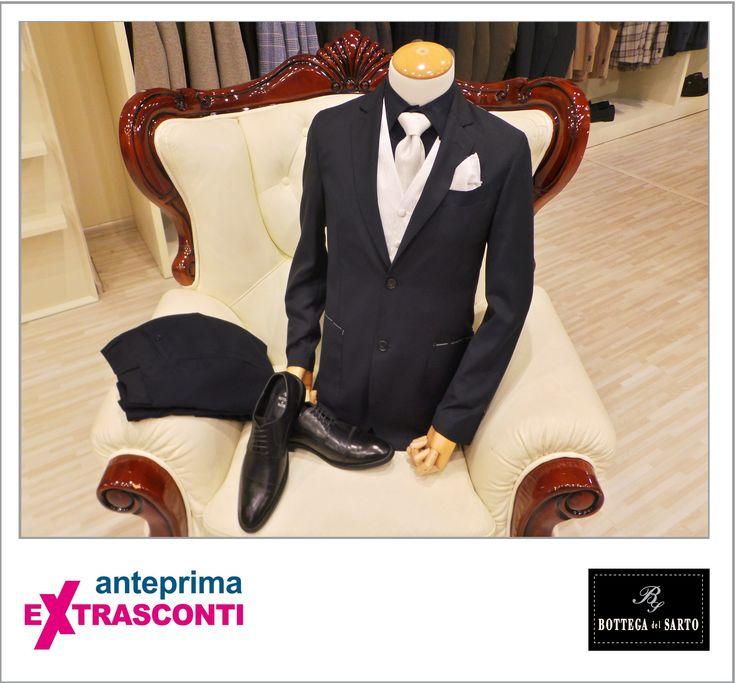 #Suite / #Completo - #Bottega del #Sarto  #Original #price: 420.00€ #Outlet price: 290.00€ #EXTRASCONTI PRICE: 139,90€  #Shirt / #Camicia Original: 99.00€ Outlet: 69.00€ EXTRASCONTI: 34.90€ #Shoes / #Scarpe  Original 199.0€ Outlet 139.00€ EXTRASCONTI 99,90€ #Tie and #cufflink  Original 79,00€ Outlet  55,00€ EXTRASCONTI 29,90€ #Vest   Original 139,00€ Outlet 99,00€ EXTRASCONTI 69,90€ #Pochette   Original 25,00€ Outlet 16,00€ EXTRASCONTI 9,90€ #Available at store number 99…
