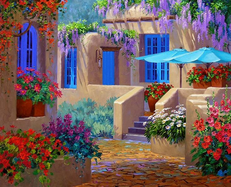 Flower Garden Paintings 72 best mikki senkarik images on pinterest | paintings, landscape