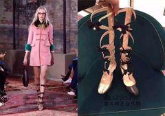 2016 весной и летом в Европе и Америке с личностью дугообразная кожи на высоких каблуках сандалии моды подиум обувь больших ярдов