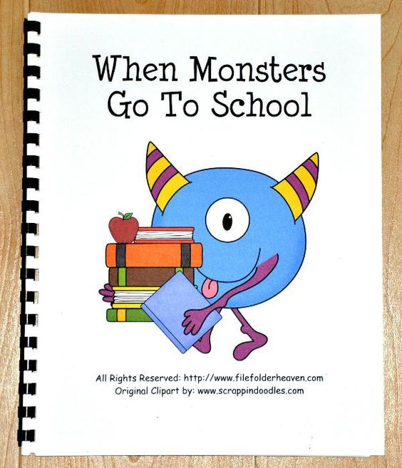 "FREEBIE!! When Monsters Go to School Book  This book focuses on appropriate school behavior and is great for the first week of school. It compares the way monsters and children behave at school.  Sample text:  ""When monsters go to school, they break every rule. They scream and yell inside, hold up their books and hide-- Daydream with open eyes-- Chomp all their school supplies. Their work is such a mess. They're bad, I must confess. It isn't very cool, when monsters go to school..."""