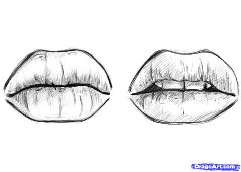 How To Doodle Art | Step 11. How to Draw Lips